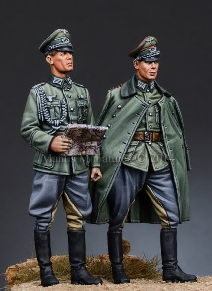 Wehrmacht Officers, WWII Mantis Miniatures 35070