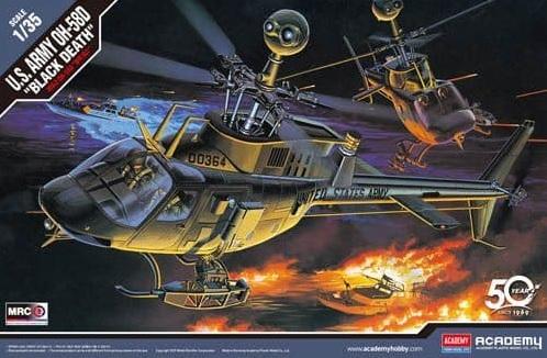 OH-58 D KIOWA BLACK DEATH Academy 2195