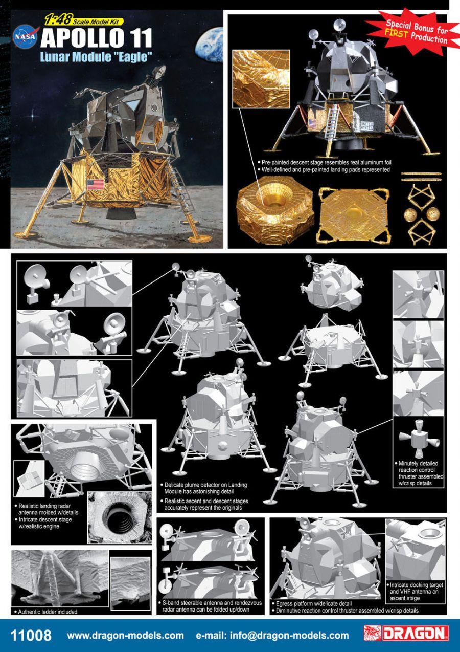 """Apollo 11 Lunar Module """"Eagle"""" Dragon 11008"""