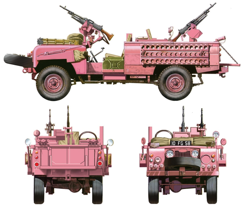 Land Rover Sas Recon Vehicle Quot Pink Panther Quot Italeri 6501