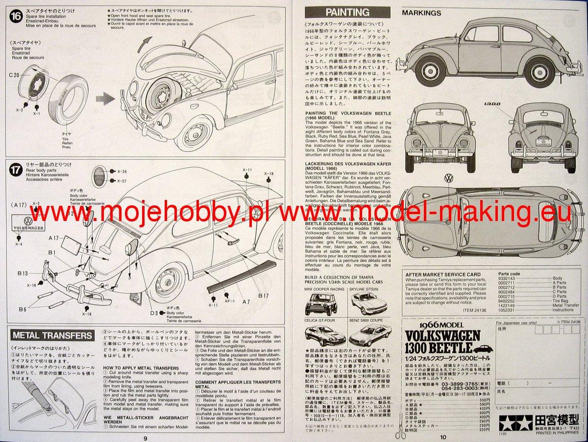 Tamiya 24136 VW 1300 Beetle