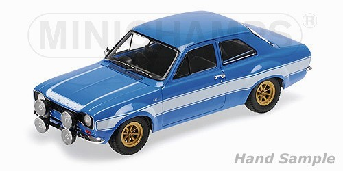 ford escort  rs fav  blue wwhites stripes die cast model minichamps