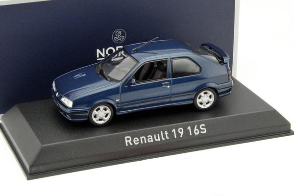 renault 19 16s 1992 sport blue die cast model norev 511907. Black Bedroom Furniture Sets. Home Design Ideas