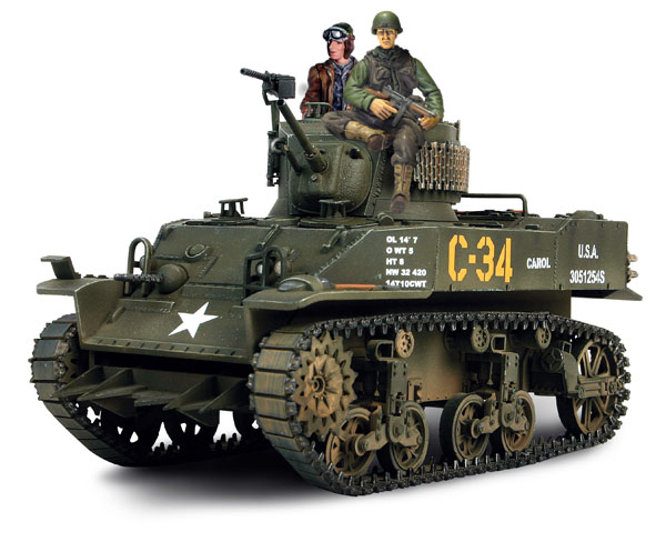 American light tank M5 Stuart - Die-cast model