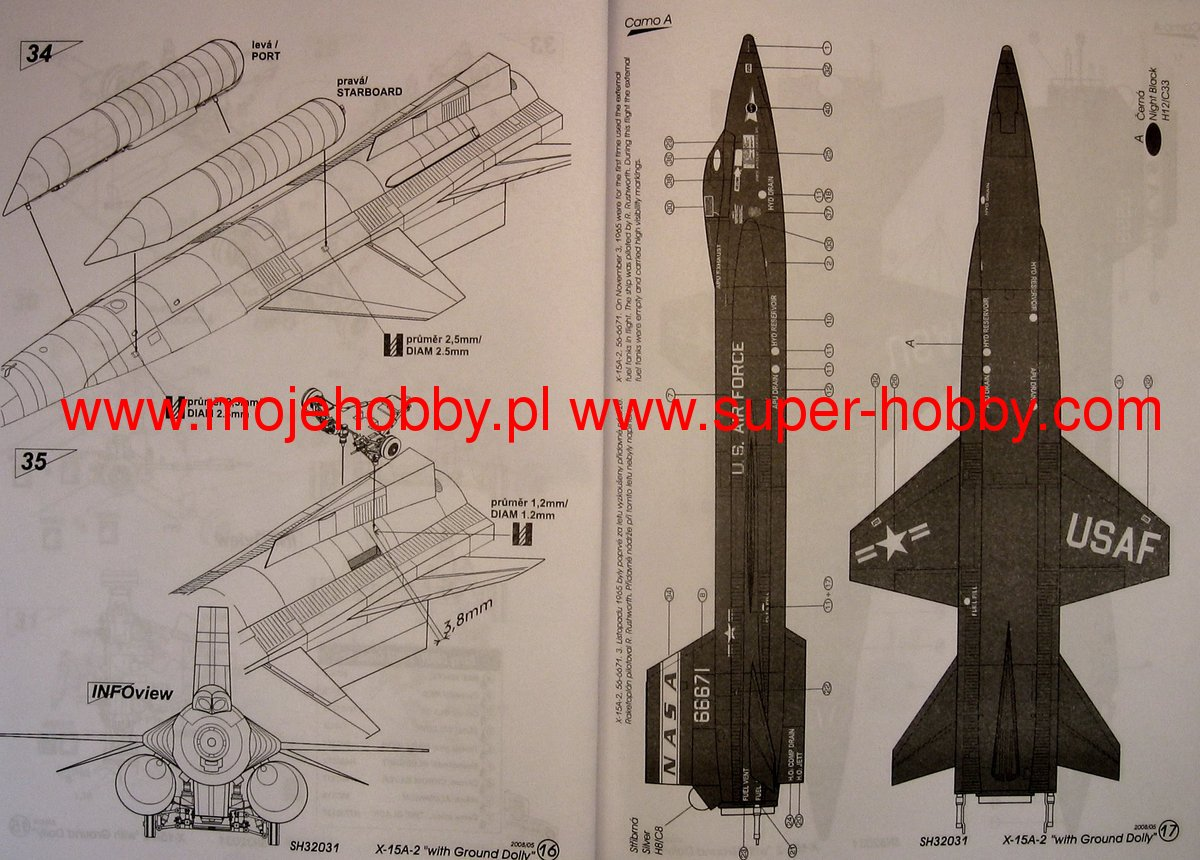 """North American X-15-A2 with """"Ground Dolly"""" Special Hobby 32031"""