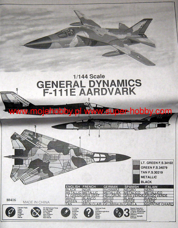 General Dynamics F-111 Aardvark Mini Hobby Models 016