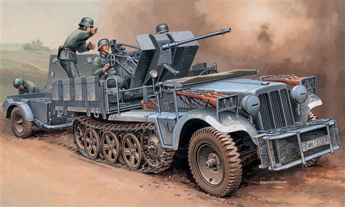 Sd. Kfz. 10/4 with FLAK 30 Italeri 6395