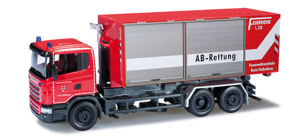 scania r rolloff container truck herpa 090360