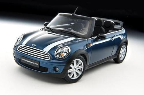 bmw mini cooper convertible die cast model kyosho 08749bl. Black Bedroom Furniture Sets. Home Design Ideas