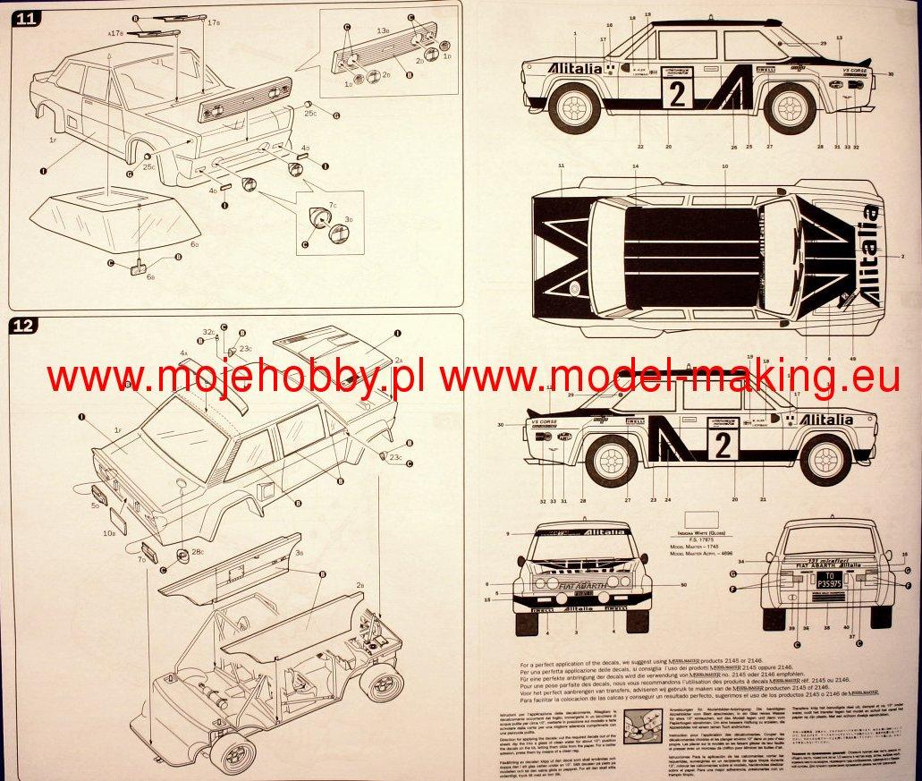 Italeri 3690 FIAT 131 Rally