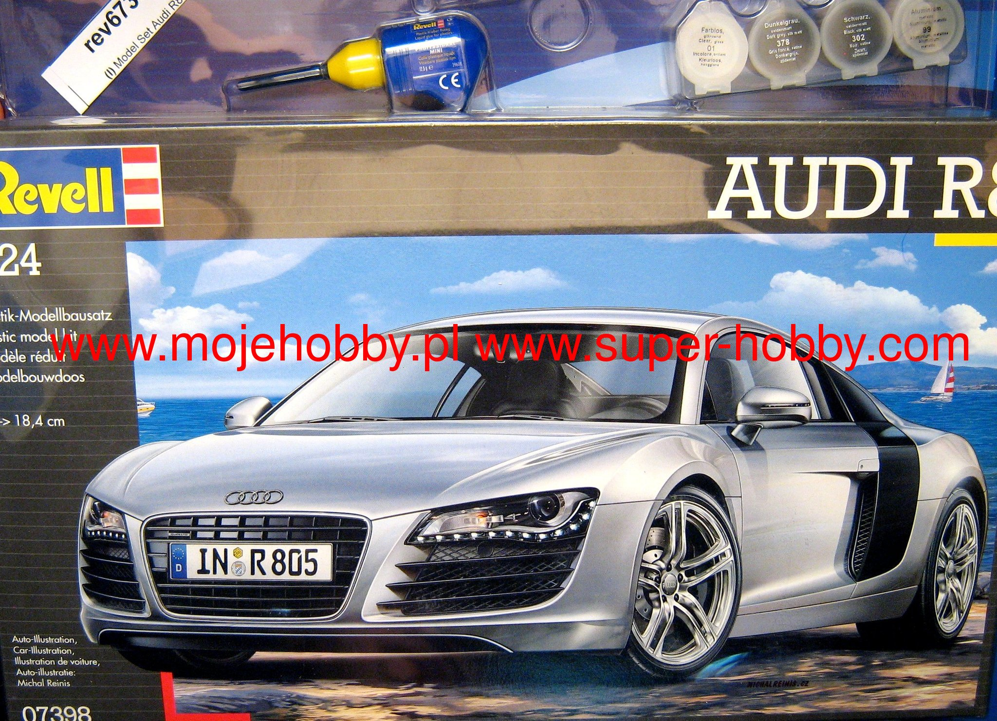 model set audi r8 revell 67398. Black Bedroom Furniture Sets. Home Design Ideas