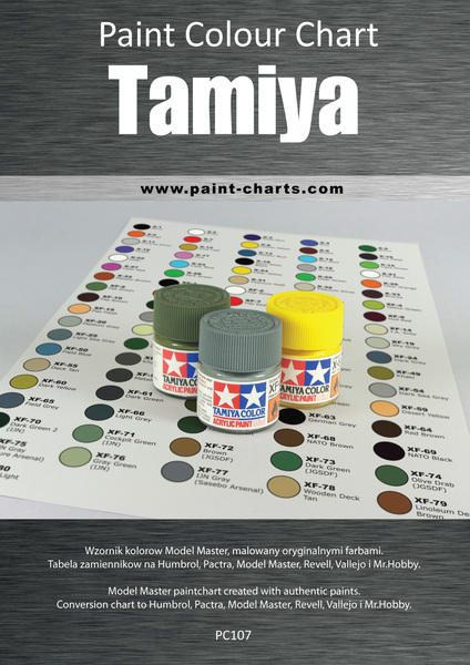 paint colour chart tamiya 12mm image 1 - Tamiya Color