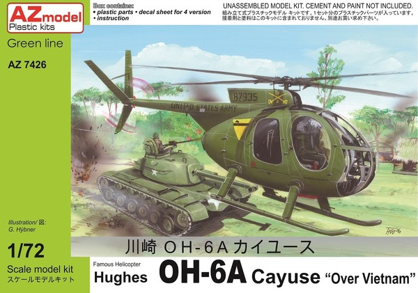 AZ Model 1:72 OH-6A over Vietnam
