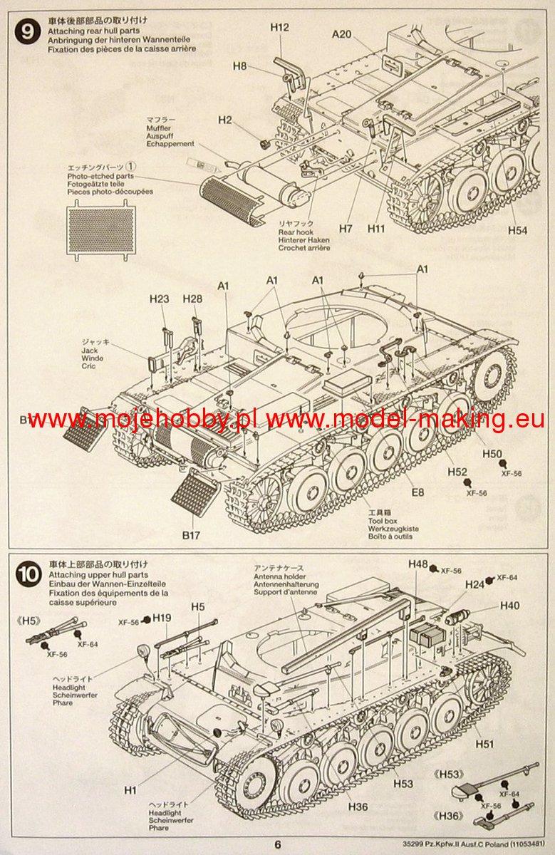 Pz C Puertas Exterior: Pz.kpfw II Ausf.C (Sd.Kfz.121)