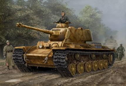 german pz kpfw kv 1 756 r tank hobby boss 84818. Black Bedroom Furniture Sets. Home Design Ideas