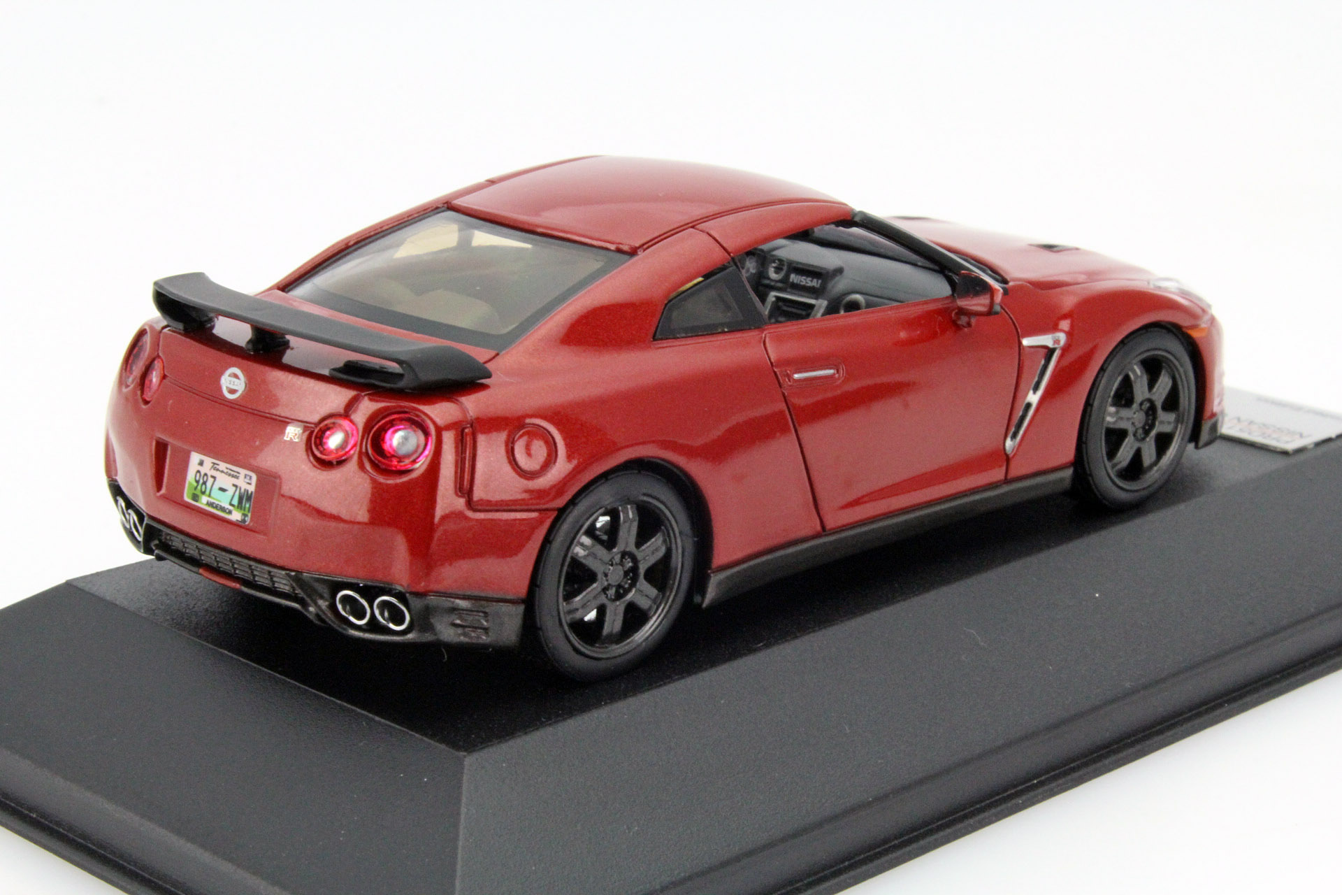 nissan gt r r35 black edition 2015 red die cast model. Black Bedroom Furniture Sets. Home Design Ideas
