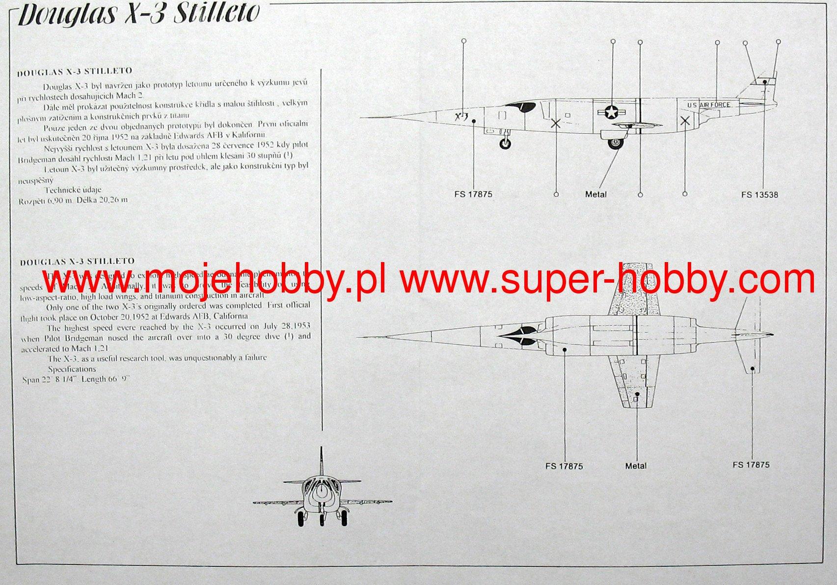 Douglas X-3 Stilleto Planet Models 045