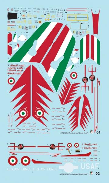 Republic F-84F Diavoli Rossi Italeri 2703