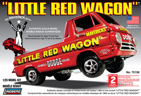 1965 dodge a100 little red wagon lindberg 72158