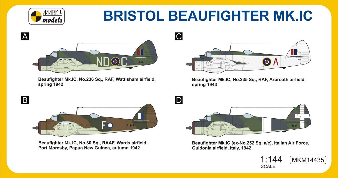 Bristol Beaufighter Mk Ic Coastal Patrol Mark I Models 14435
