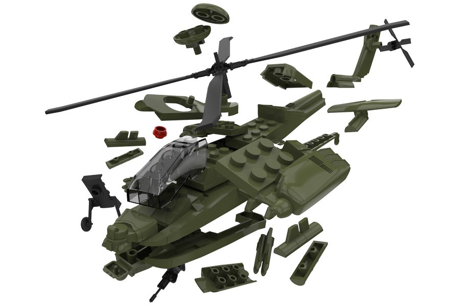 How To Build A Lego Apache Helicopter