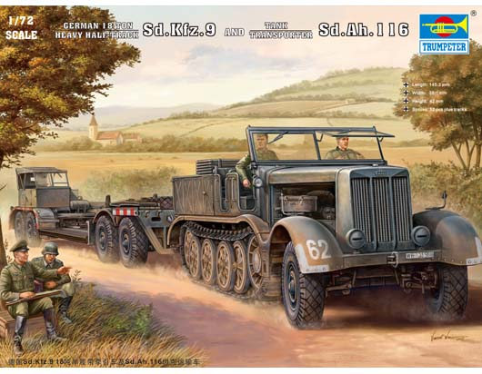 Sd.Kfz.9 And Mini Transporter Sd.Ah.116 Trumpeter 07275