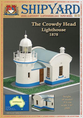 Shipyard Mk025 56 Crowdy Head Lighthouse Nr56 Skala 187