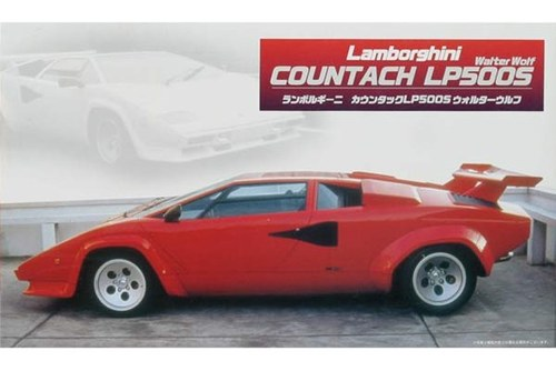 lamborghini countach lp500s fujimi 122243. Black Bedroom Furniture Sets. Home Design Ideas